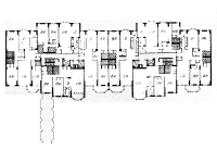 plan of Butterfield House by James S. Rossant, Conklin + Rossant