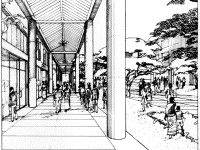 part of second sketch from Dodoma, Tanzania, by James S. Rossant, Conklin + Rossant