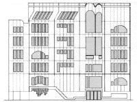 elevation for Ramaz School by James S. Rossant, Conklin + Rossant